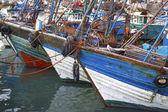 Barcos de pesca azul — Foto Stock