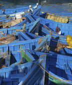 Blauen fischerbooten — Stockfoto