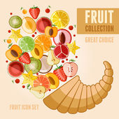 Fruit icon set — Vetorial Stock