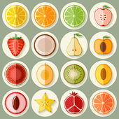 Fruit icon set — Stock Vector