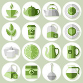 Tea icons set — Stock Vector