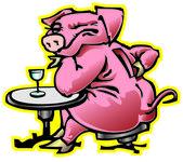 Pig-moneybox — Stock Vector