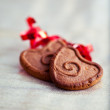 Liebe cookie — Stockfoto