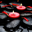 Two red candle — Stock Photo