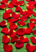 Pile of red rose petals — Stock Photo