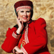Woman in Russian national costume — Foto Stock