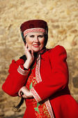 Woman in Russian national costume — Stock Photo