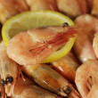 Shrimp and lemon — Stock Photo