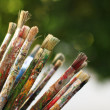 Brushes for painting - Stock Photo