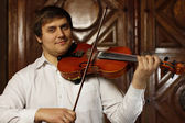 Guy with a violin — Stock Photo