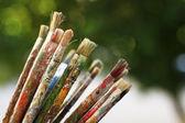 Pincéis para pintura — Foto Stock