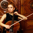 Stock Photo: Girl cellist