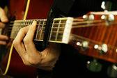 Игра гитары — Стоковое фото