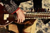 Muž hrát sitar — Stock fotografie