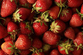 Fresh ripe strawberries full frame background — Stock Photo