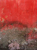 Cracked red old wall background — Stock Photo