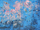 Old blue and pink wall background — Stock Photo
