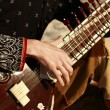 Playing the sitar — Stock Photo