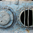 Stock Photo: Portholes on old ship