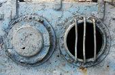 Portholes on the old ship — Stock Photo