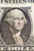 Portrait of Washington on the dollar used as background — Stock Photo