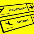 Arrivals and Departures signals — Stock Photo