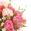 Stock Photo: Close up pink roses bouquet