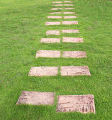 Brown stone pathway — Stock Photo
