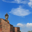 Ancient buddha statue with blue sky — Foto de Stock
