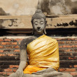 Ancient buddha statue at Wat Yai Chai Mongkhol — Stock Photo
