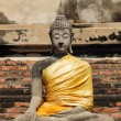 Ancient buddha statue at Wat Yai Chai Mongkhol — Foto de Stock