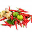 Thai food ingredient isolated on white background — Stock Photo