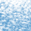 Cloud texture on a blue sky background — Stock Photo
