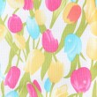 Texture of flower fabric — Stock Photo