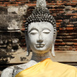 Ancient white buddha statue at Wat Yai Chai Mongkhol, Ayutthaya — Stock Photo