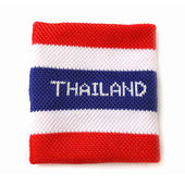Wristband with Thailand flag pattern — Stok fotoğraf