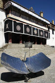 Solar Cooker near a Temple in Lhasa in Tibet — Φωτογραφία Αρχείου