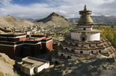 Gyantsie Fort and Kumbum - Tibet — Stock Photo