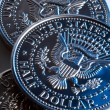 US Half Dollar coins — Stock Photo