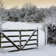Stock Photo: Winter snow in the countryside - England