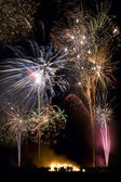 Firework Display - Guy Fawkes Night - England — Stock Photo