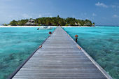 Tropical Island Paradise - Maldives — Stock Photo