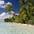 Aitutaki Lagoon - Cook Islands - Polynesia — Stock Photo