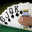Straight Flush - Poker - Winning Hand — Stock Photo