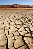 Dry Cracked Earth - Sossusvlei - Namibia — Stock Photo