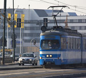 Tram in Krakow - Poland — Foto Stock