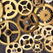 Old clockwork cogs - Stock Photo