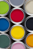 Tins of Paint — Stock Photo