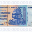 Zimbabwe - billets de banque de 100 billions de dollars — Photo
