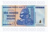 Zimbabwe - One Hundred Trillion Dollar Banknote — Stock Photo